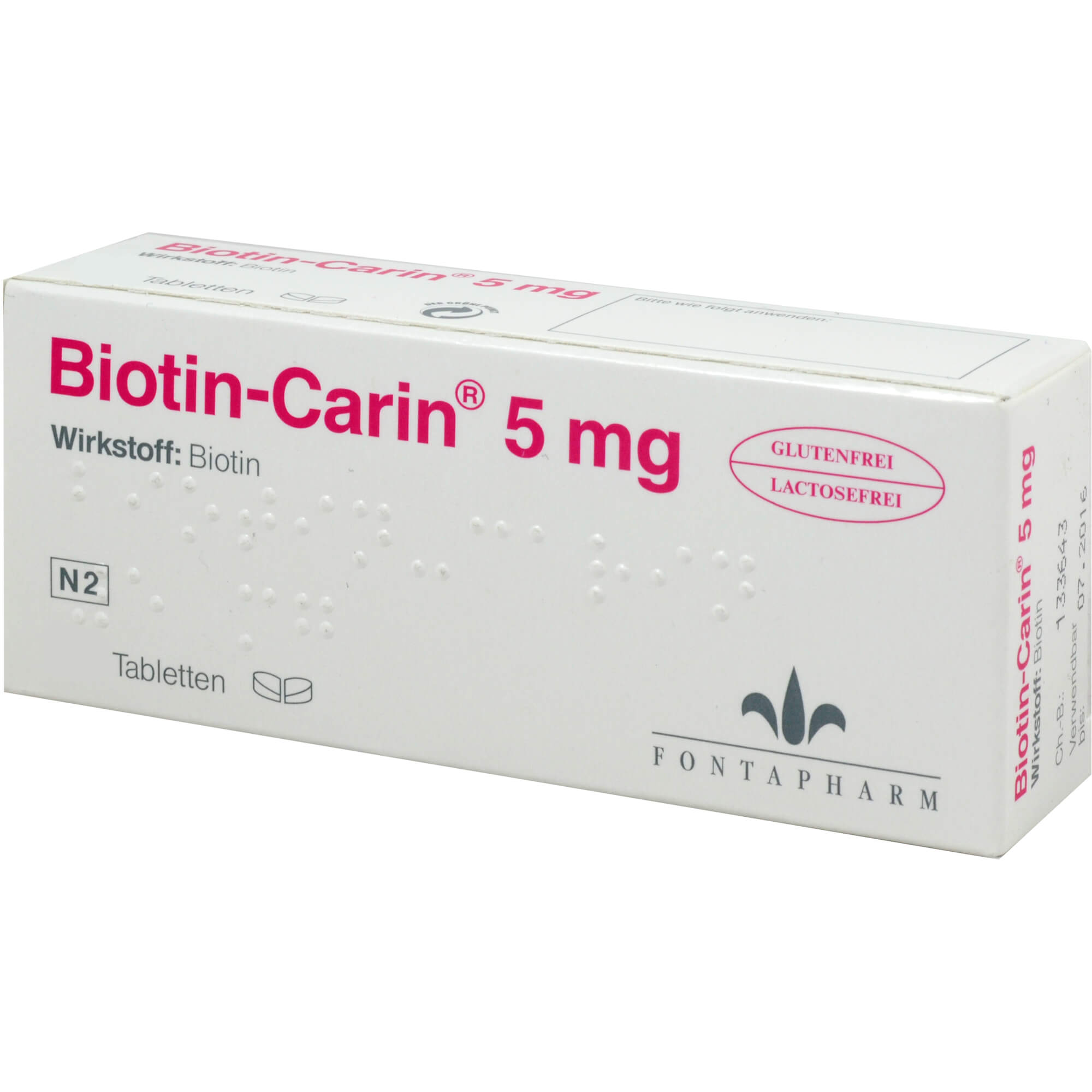 BIOTIN-CARIN 5 mg Tabletten